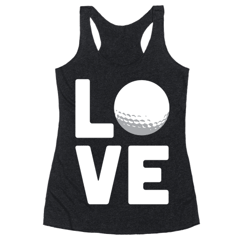 Love Golf (White Ink) Racerback Tank Top
