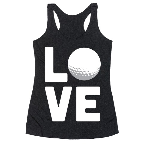 Love Golf (White Ink) Racerback Tank Top