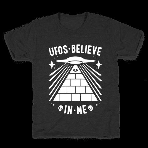 UFOS Believe In Me Kids T-Shirt