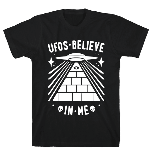 UFOS Believe In Me Mens T-Shirt