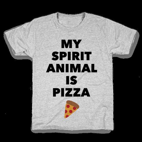 Pizza Spirit Animal Kids T-Shirt