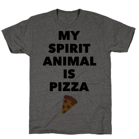 Pizza Spirit Animal Mens T-Shirt