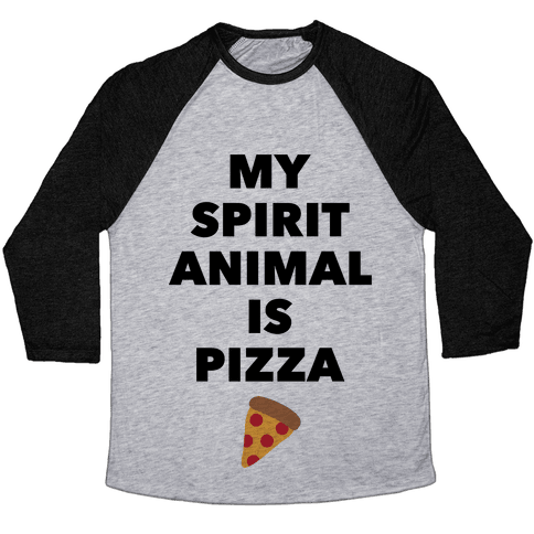 Pizza Spirit Animal Baseball Tee