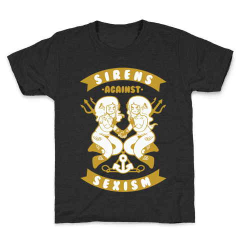 Sirens Against Sexism Kids T-Shirt