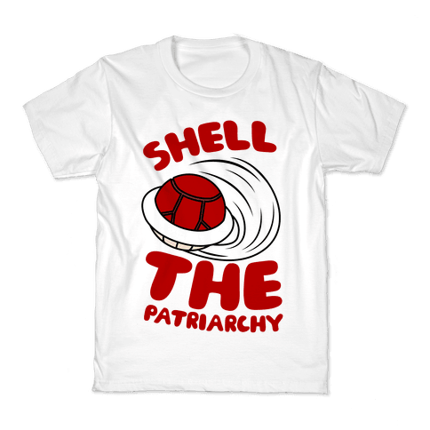 Red Shell The Patriarchy Kids T-Shirt