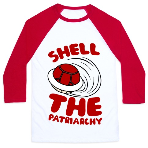 Red Shell The Patriarchy Baseball Tee
