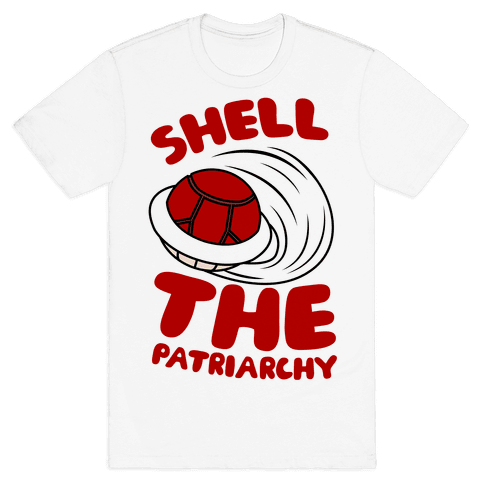 Red Shell The Patriarchy Mens T-Shirt