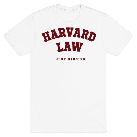 Harvard Law JK Mens T-Shirt