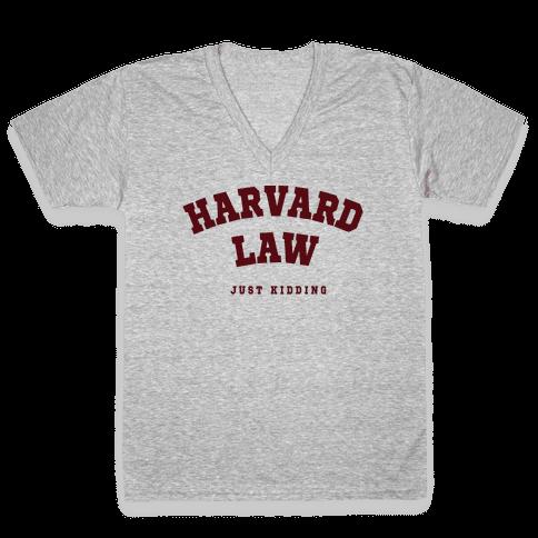 Harvard Law JK V-Neck Tee Shirt