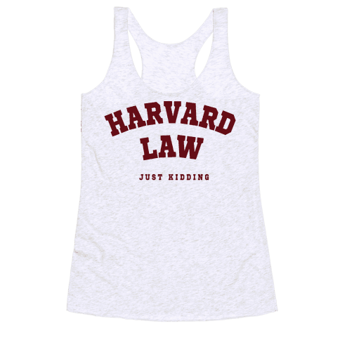 Harvard Law JK Racerback Tank Top