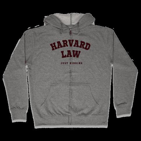 Harvard Law JK Zip Hoodie