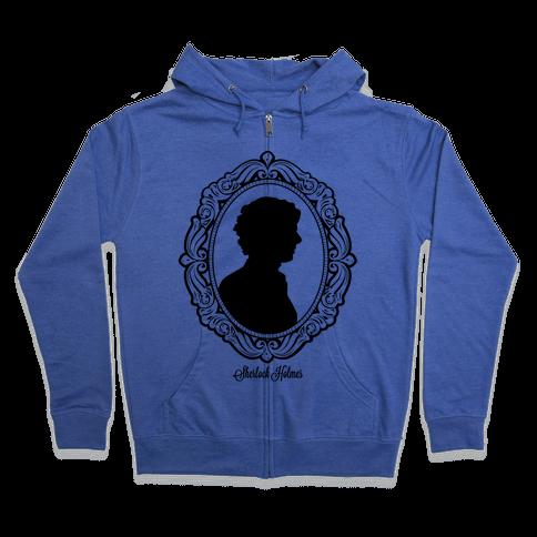 Sherlock Cameo Zip Hoodie