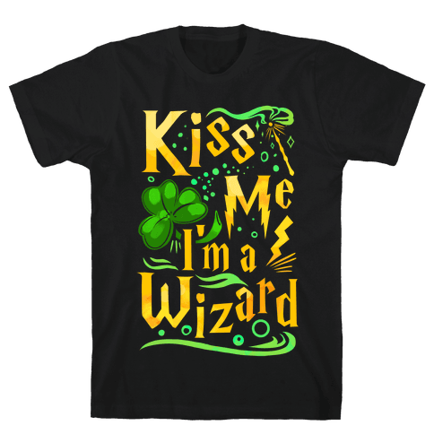 Kiss Me! I'm a Wizard! Mens T-Shirt