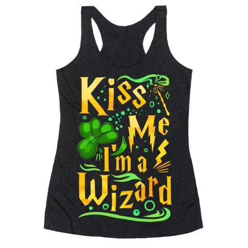 Kiss Me! I'm a Wizard! Racerback Tank Top