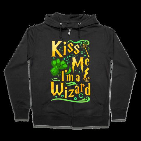 Kiss Me! I'm a Wizard! Zip Hoodie