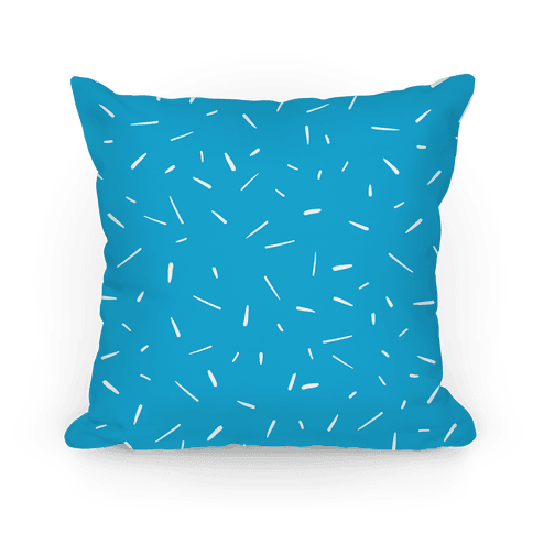 Blue Confetti Pattern Pillow