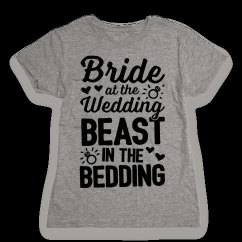 Bride At The Wedding Womens T-Shirt