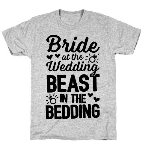 Bride At The Wedding Mens/Unisex T-Shirt