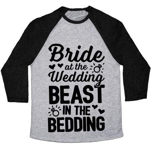 Bride At The Wedding Baseball Tee