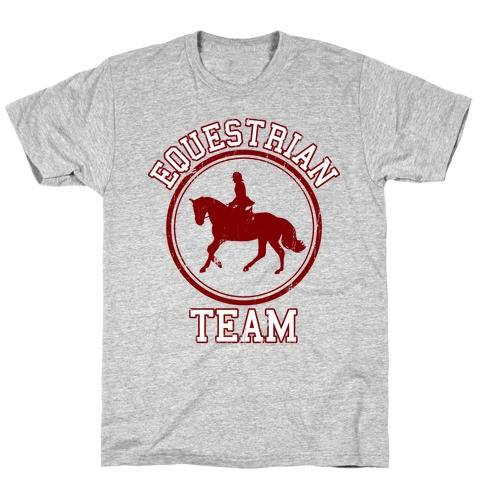 Equestrian Team (Red) Mens T-Shirt