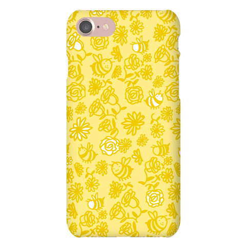 Bee And Flower Pattern Phone Case