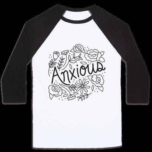 Anxious Florals Baseball Tee