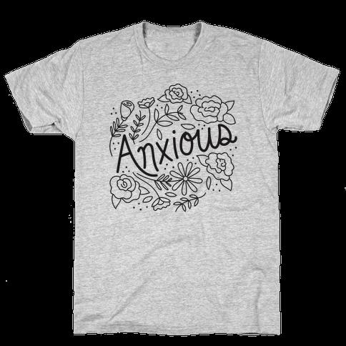 Anxious Florals Mens T-Shirt