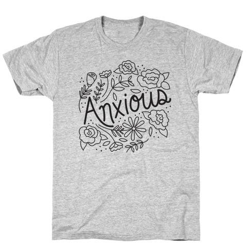 Anxious Florals Mens/Unisex T-Shirt