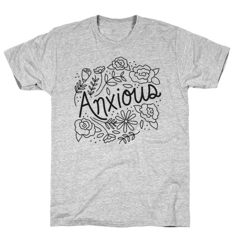 Anxious Florals Mens T-Shirt
