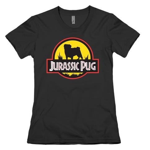 Jurassic Pug Womens T-Shirt