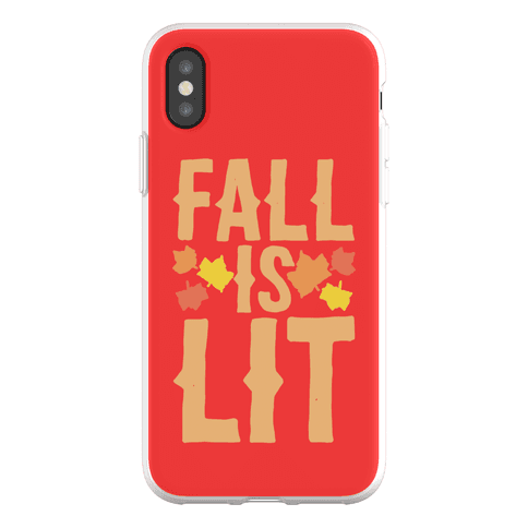 Fall Is Lit Phone Flexi-Case