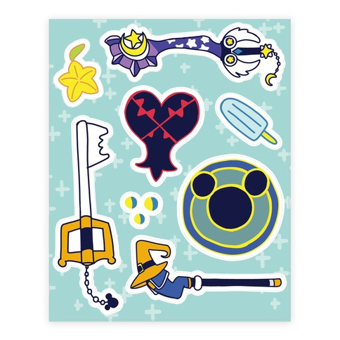Kingdom Hearts Stickers Sticker and Decal Sheet