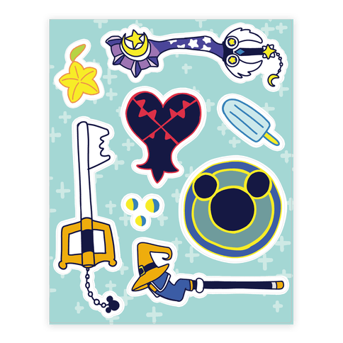 Kingdom Hearts Stickers Sticker/Decal Sheet