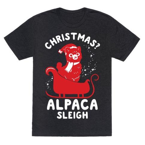 Christmas Alpaca Sleigh T-Shirt