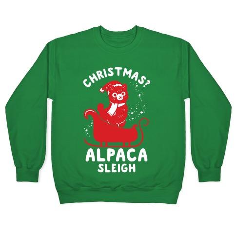 Christmas Alpaca Sleigh Pullover