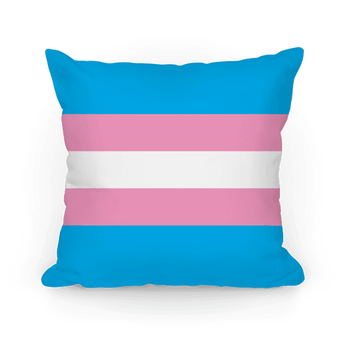 Trans Pride Flag Pillow