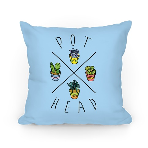 Pot Head Succulents Pillow