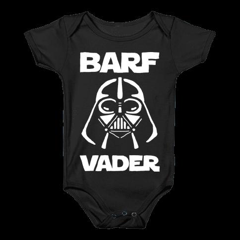 Barf Vader Baby Onesy