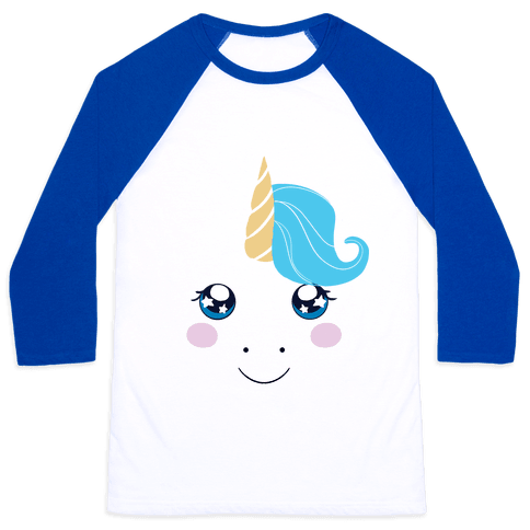 Unicorn Face Baseball Tee