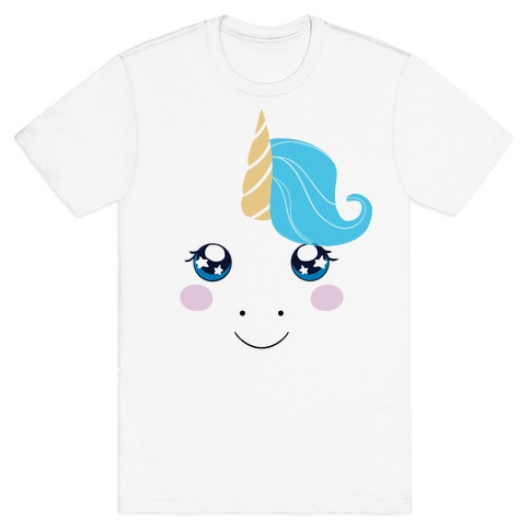 Unicorn Face Mens/Unisex T-Shirt