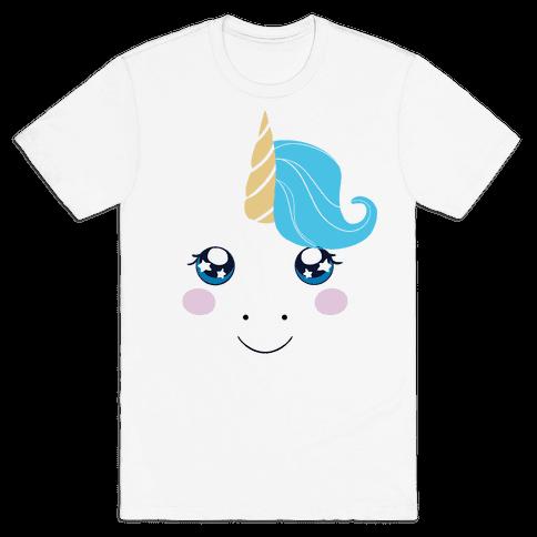 Unicorn Face Mens T-Shirt