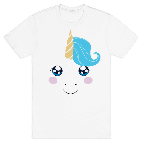 Unicorn Face Mens T-Shirt