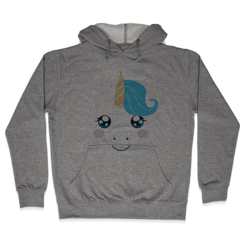 Unicorn Face Hooded Sweatshirt