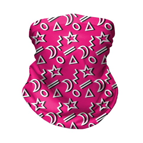 90's Pink Party Pattern Neck Gaiter