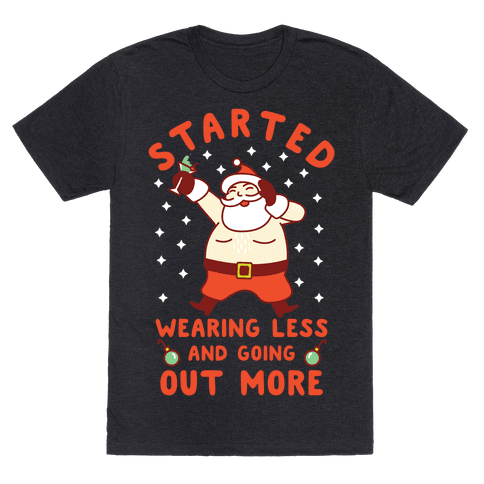 Santa Wearing Less and Going Out More