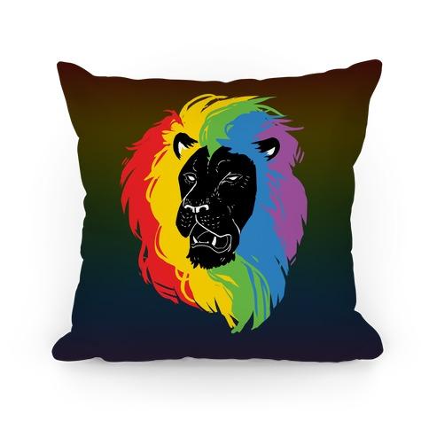 Rainbow Lion Pillow