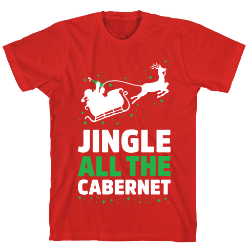 Jingle All the Cabernet Mens T-Shirt