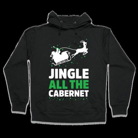 Jingle All the Cabernet Hooded Sweatshirt