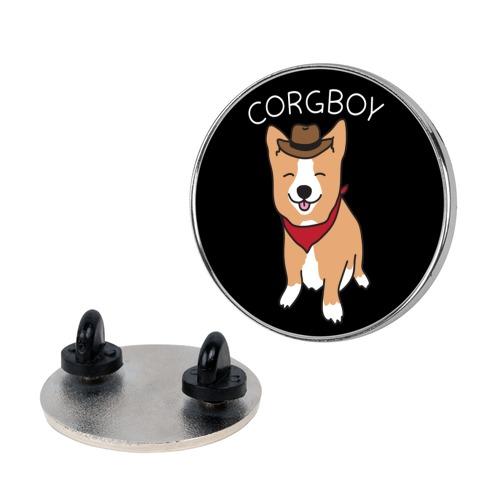 Corgboy Cowboy Corgi Pin