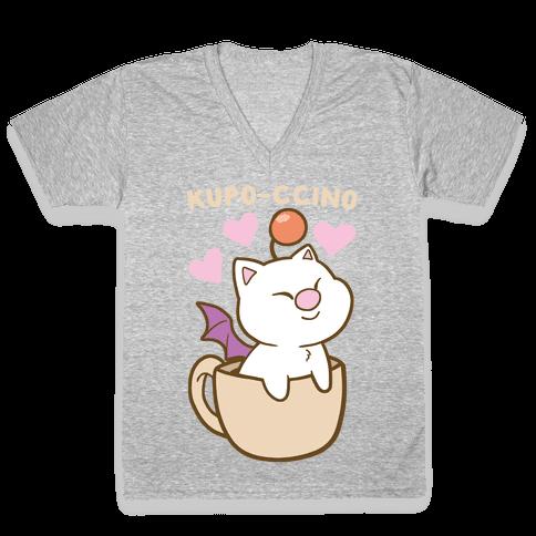 Kupo-ccino - Moogle V-Neck Tee Shirt